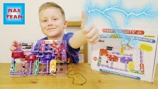 Электрический конструктор Опыты с электричеством Уроки физики от Макса Видео для детей