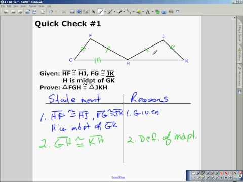 4 2 Triangle Congruence By Sss And Sas Part 2