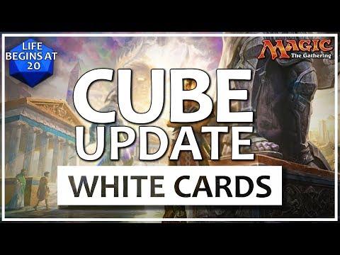 MTG Cube Major Overhaul!! My White MTG Cube Cards Update - June 2017