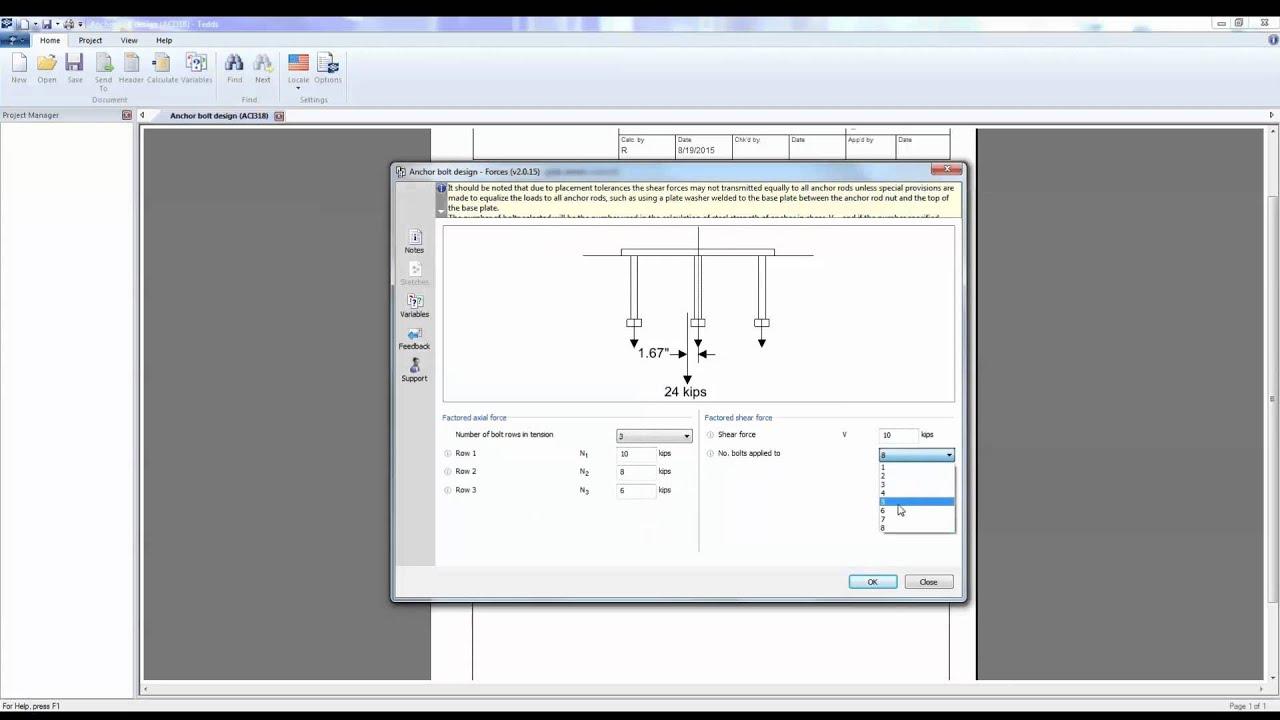Anchor Bolt Design Youtube