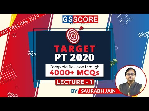 Target PT 2020, Complete Revision through 4000+ MCQs: Lecture 1 by Dr. Saurabh Jain