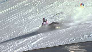 Bode Miller Crash - 2015 World Champs - Super G