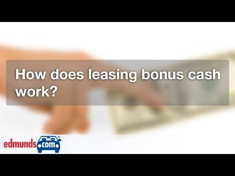 How Does Leasing Bonus Cash Work? | Car Leasing