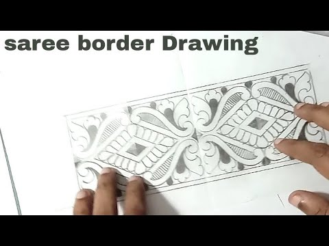Saree Border Designs Hand Works Saree Border Designs Drawing