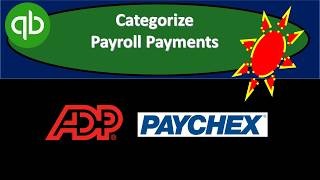 Categorize Payroll Payments QuickBooks