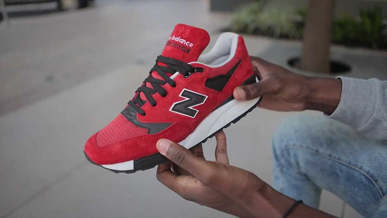 8e07294aac8f ... purchase new balance 998 made in the usa red black live look youtube  1d83d dcc8c