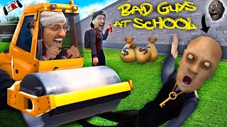 GET RICH for being a BAD GUY At SCHOOL!  FGTeeV classmates with Grandpa from Granny (Funny Game)
