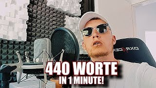 440 WORTE in 1 MINUTE! - YOUTUBE REKORD (prod. by 2Bough)