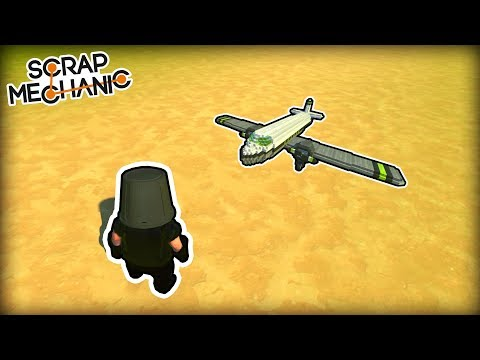 Building a New Remote Controlled Propeller Plane! (Scrap Mechanic Live Stream)