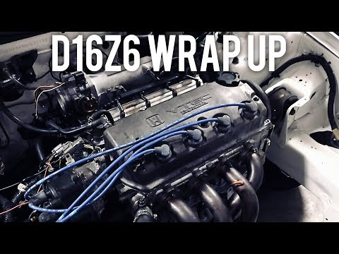 D16Z6 VTEC wiring harness install | Project CIVIC EG - YouTube on