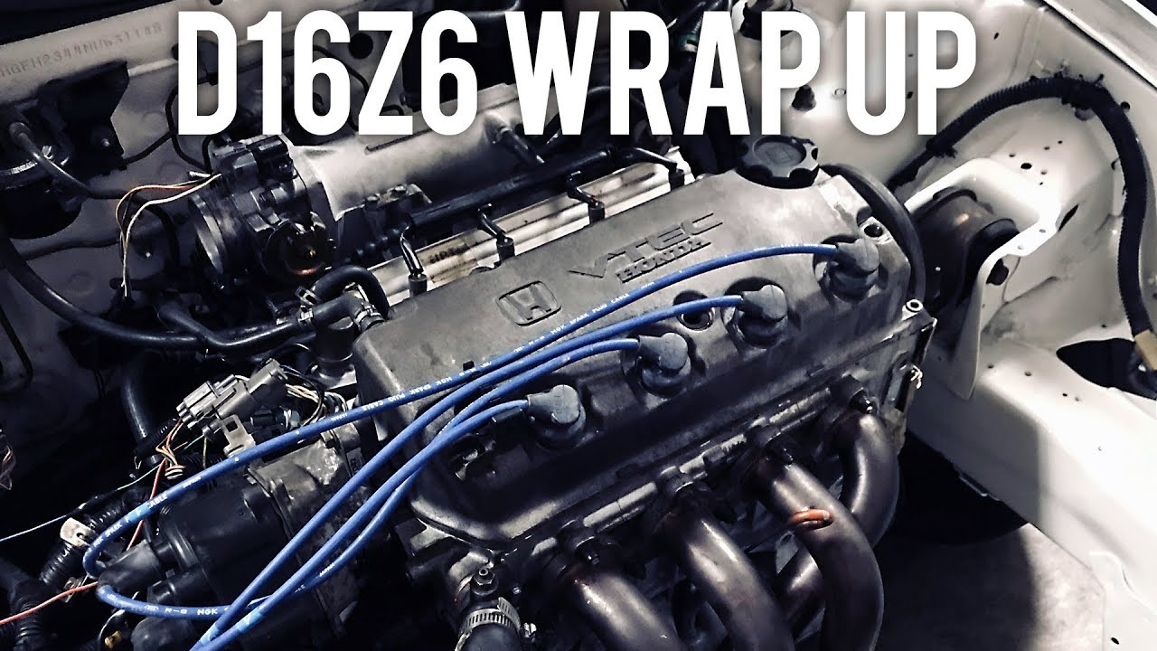 D16z6 Vtec Wiring Harness Install Project Civic Eg Youtube Obd1 Diagram