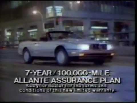 1987 Cadillac Allante Commercial