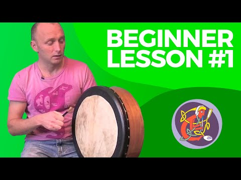 Bodhran Lesson 1: How To Hold The Bodhran And Stick + Basic Stroke Making