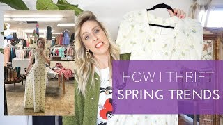 THRIFT AND VINTAGE SHOPPING TIPS// HOW I SHOP FOR SPRING TRENDS