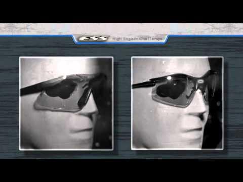 Видео тест защитных баллистических очков от компании ESS