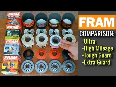 FRAM Oil Filters Cut Open! Extra Guard vs Tough Guard vs High Mileage vs Ultra Synthetic