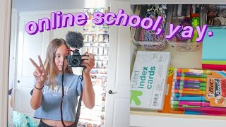 getting ready for my first day of online school! (+ answering questions and 1st day vlog)