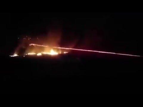 Syrian Arab army use yak-b 12.7mm machine gun against ISIS terrorists