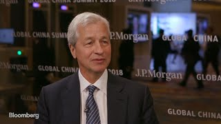 Dimon on U.S.-China Trade, U.S. Economy, Cybersecurity