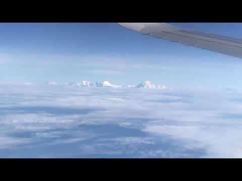 Air arabia flight from sharjah to nepal with amazing mountain view