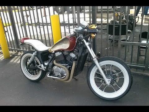 custom cafe racer 85 honda shadow vt 500 build under $1500 - youtube