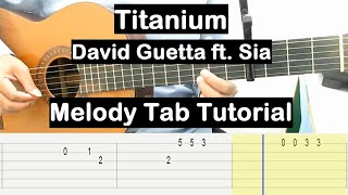 Titanium Guitar Lesson Melody Tab Tutorial Guitar Lessons for Beginners