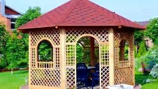 видео Как построить беседку на даче своими руками? 25 ФОТО садовых домиков из разных стройматериалов, пошаговая инструкция, как построить беседку на участке: сборка и монтаж