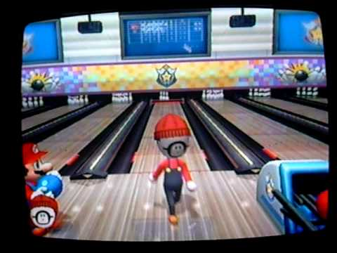 mario party 8 bowling mario vs shy guy mii youtube