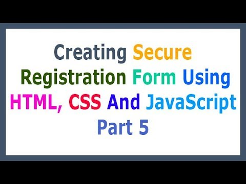 Creating Secure Registration Form Using HTML, CSS And JavaScript Part 5 Design Input Fields