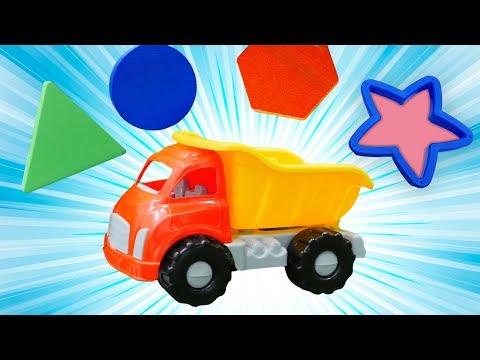 Çocuk şarkıları. İngilizce şekilleri öğreniyoruz. Oyuncak arabalar