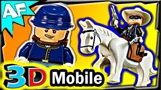 3D Mobile CAVALRY BUILDER Lego Lone Ranger set 79106 Animated Review