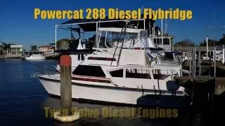 Powercat 288 Diesel Flybridge boat for sale at Peter Hansen Yacht Brokers Raby Bay