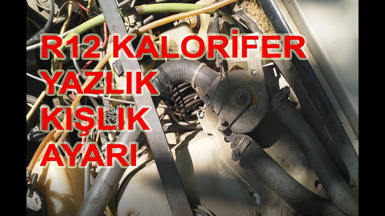 renault 12 toros kalorifer radyatoru yazlik kislik ayari