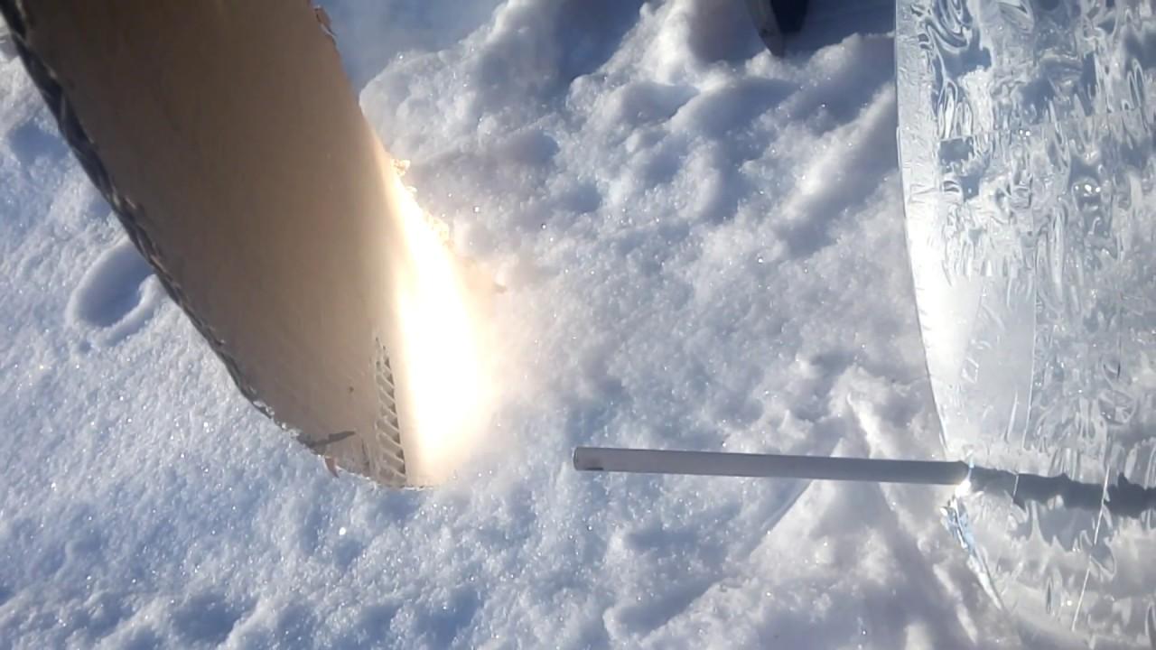 поджигаем бумагу солнечным концентратором зимой. январь 2019 года
