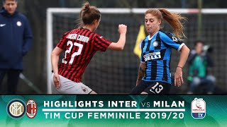 INTER 1 4 MILAN INTER WOMEN HIGHLIGHTS COPPA ITALIA ROUND OF 16