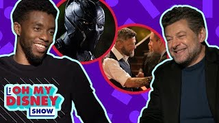Cast of Marvel Studios' Black Panther in Epic Speed Round Game | Oh My Disney Show by Oh My Disney