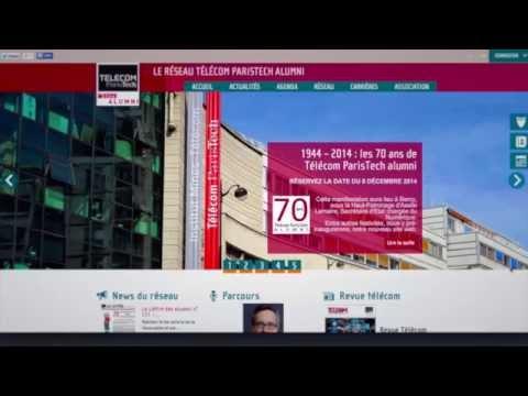 Annonce Nouveau Site web de Télécom ParisTech alumni 2015