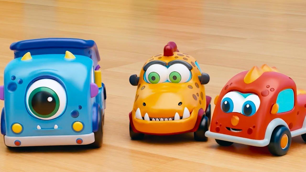 Машинки Мокас 🚕 Рампа 🚙 Развивающие мультики для детей и малышей 🚗