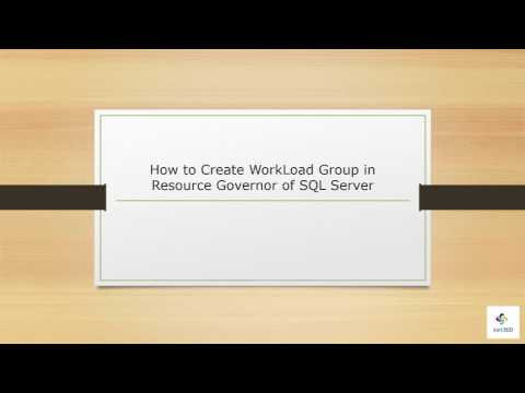 WorkLoad Group in Resource Governor of SQL Server