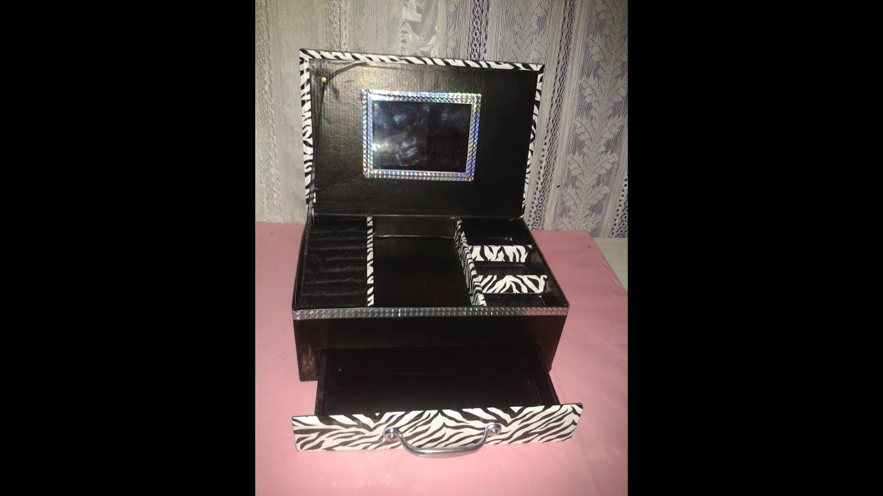 Alhajero hecho con una caja de zapatos viyoutube - Cajas transparentes para zapatos ...