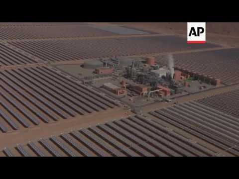 New solar power plant on edge of Sahara