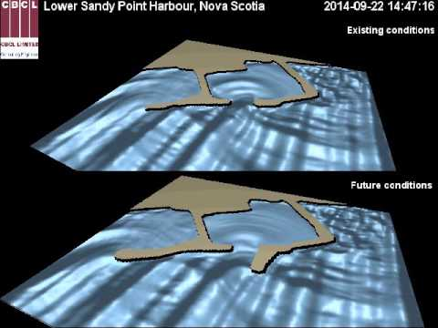 Wave Model and Breakwater Extension Design at Lower Sandy Point Nova Scotia