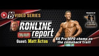 RONLINE REPORT : MATT ACTON