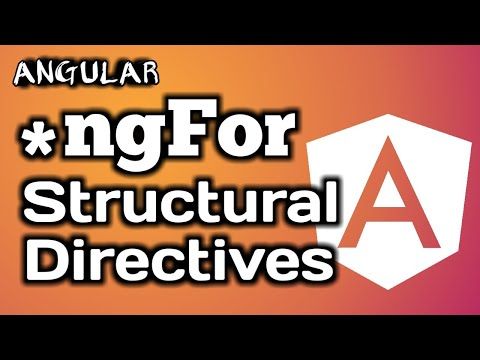 Angular Tutorial: NgFor Structural Directives in a clear Definition thumbnail