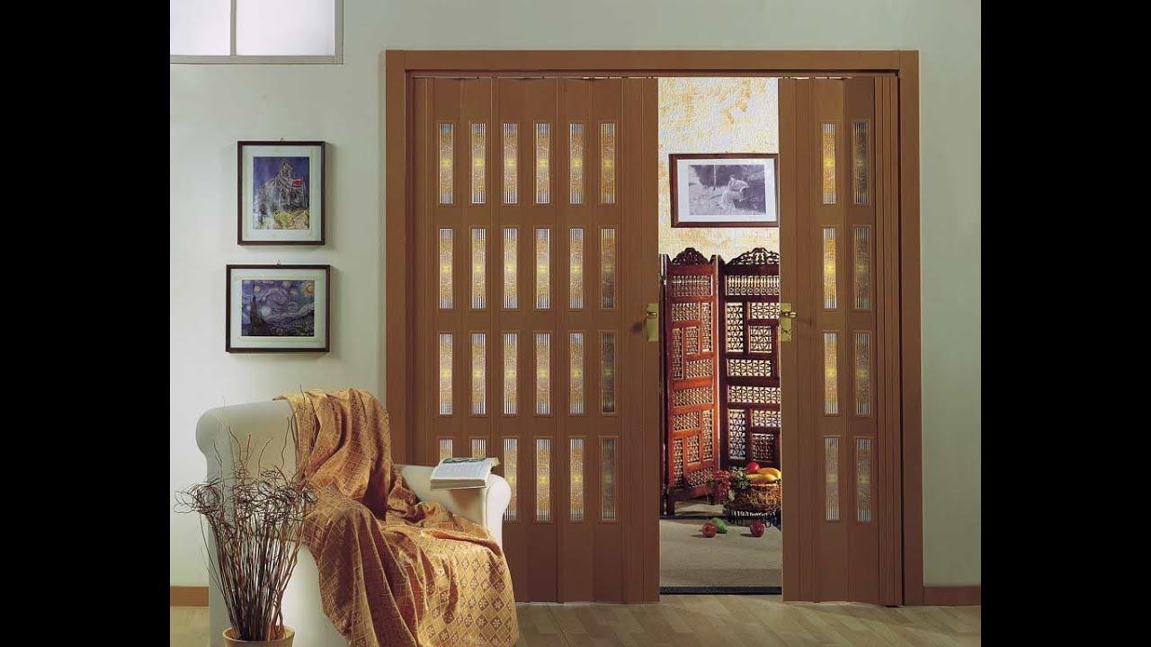 дверь гармошка деревянная впишется в интерьер