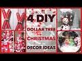 4 DIY Dollar Tree Christmas Decor Crafts - Winter Christmas Decor Ideas 2019 - Quick & Easy Projects