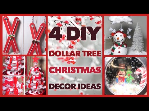 4 DIY Dollar Tree Christmas Decor Crafts - Winter Christmas Decor Ideas 2019 - Quick & Easy Projects