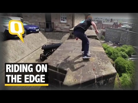 The Quint: Andy White Skates on Ramparts of Edinburgh Castle
