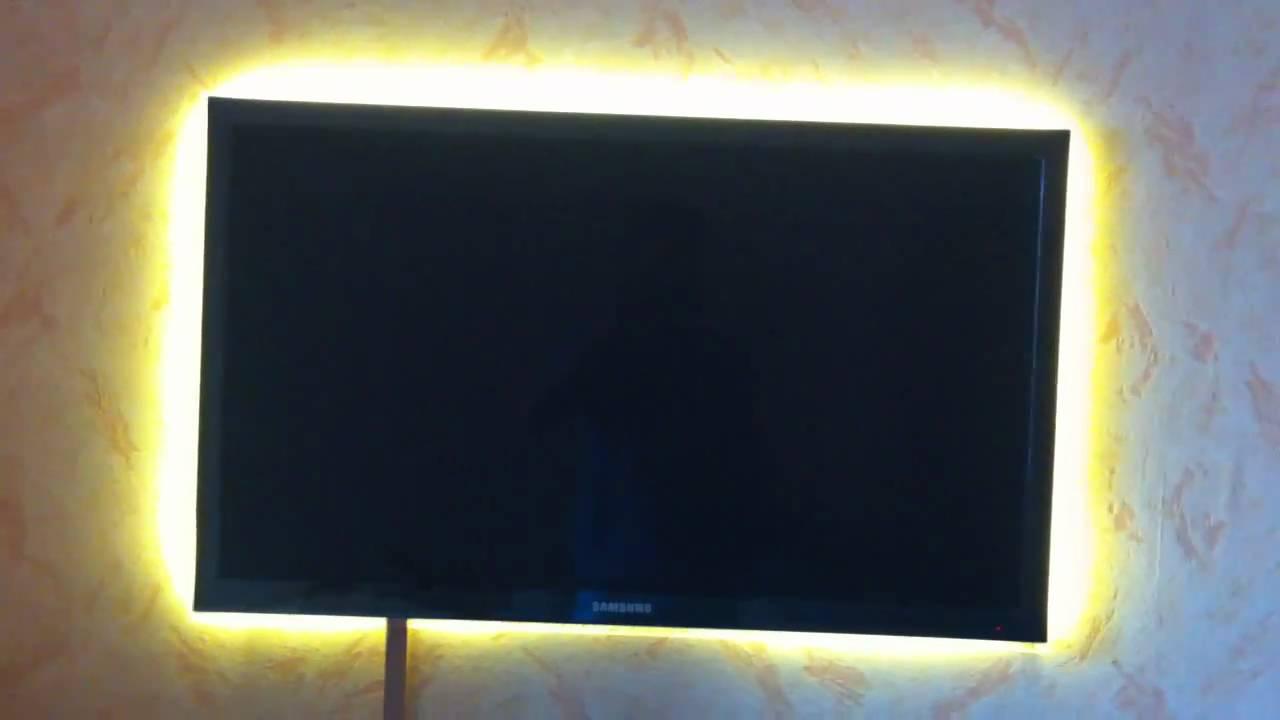 Светодиодная подсветка за телевизором 92