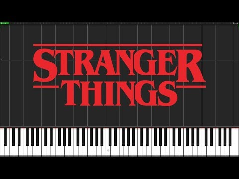 Stranger Things Theme [Piano Tutorial] (Synthesia) // Piano Man